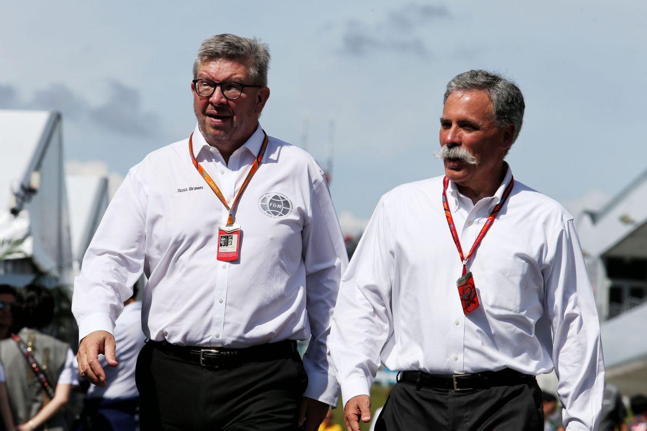 F1上層部のロス・ブラウン(左)とチェイス・キャリー(右)