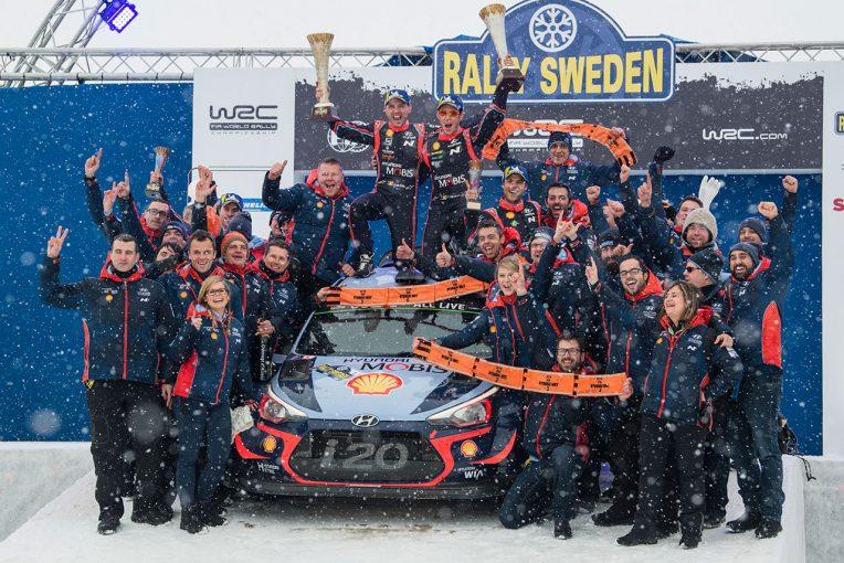 ラリー/WRC | WRC:トヨタ、ラリー・スウェーデン連覇ならず。ヒュンダイのヌービルが2018年初勝利