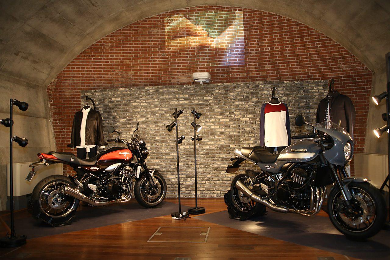 『タイムレスかつモダンな魅力 そして 上質な世界観』をコンセプトとしたZ900RS、Z900RS CAFEの展示