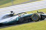 F1   メルセデスF1のハミルトン「『W09』で昨年型の欠点を修正。ドライバーふたりが常に強さを発揮できる車に」