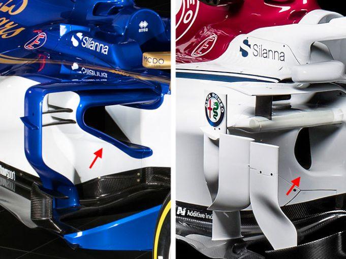 F1 | 【F1新車分析】ザウバーC37:フェラーリ型を踏襲せず独自に進化したサイドポッド
