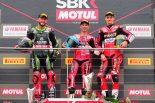 MotoGP | ドゥカティのメランドリがSBK開幕戦レース1で勝利。カワサキのレイ、タイヤに問題発生