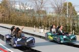 操縦可能の2人乗りコースターに乗り込みレースを楽しめるデュエルGP。子供はもちろん大人でも楽しめる。