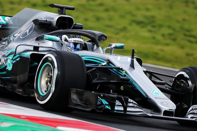 F1 | メルセデスF1、テスト初日はボッタスとハミルトンの両者が走行。難しいコンディションのなかでも好感触を得る
