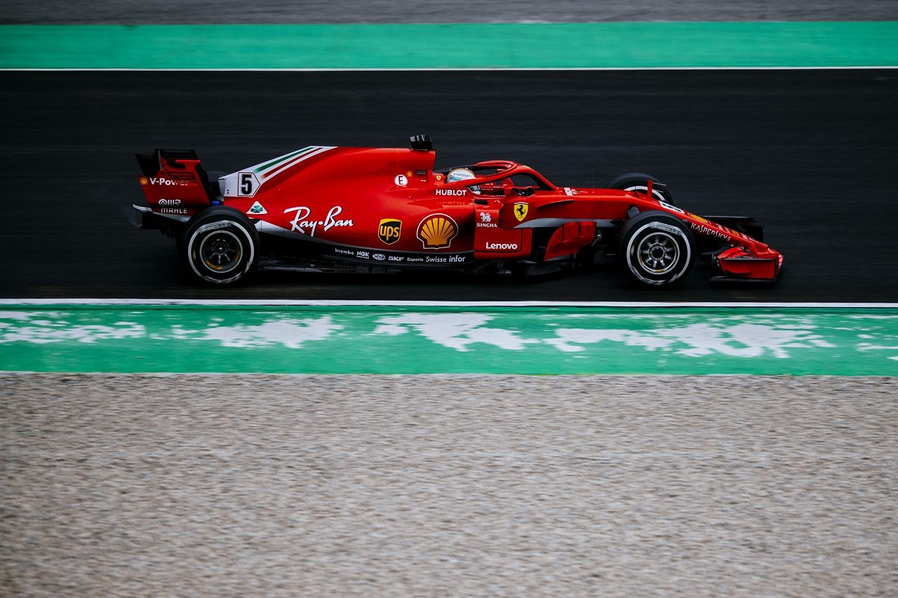2018年第1回F1バルセロナテスト2日目:セバスチャン・ベッテル(フェラーリ)