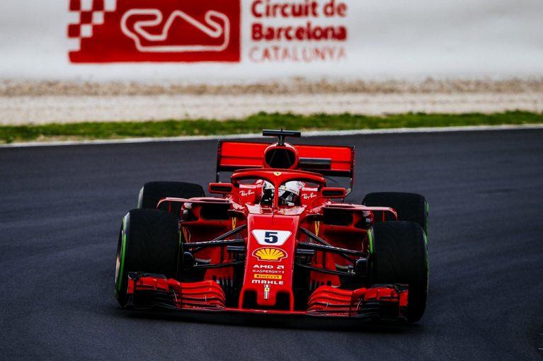 F1 | フェラーリ&ベッテルがメルセデスをリード。クビカ登場/F1合同テスト1回目デイ2