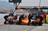 F1 | マクラーレンF1にトラブルが連発。テスト2日目はエキゾースト関連の問題で半日走れず
