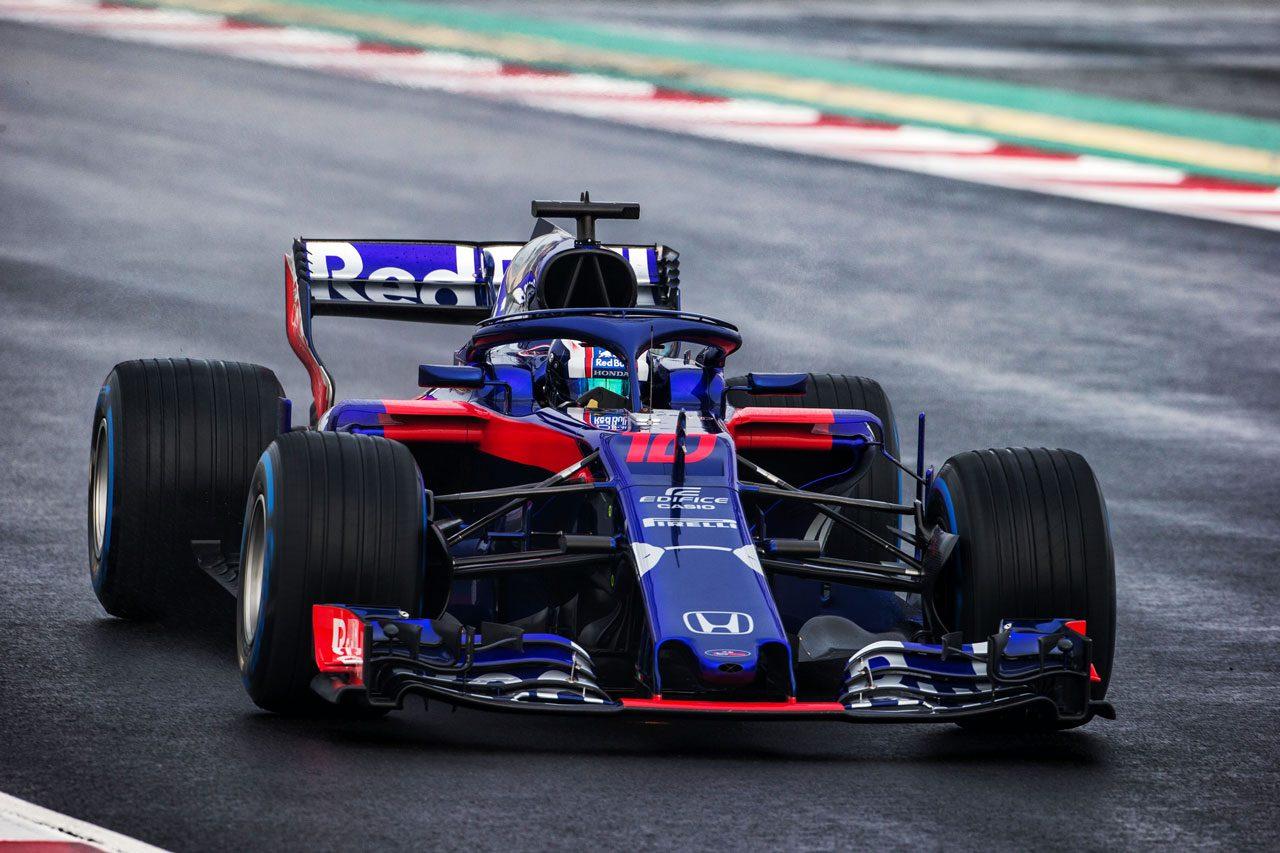 【F1合同テスト1回目デイ4午前・タイム結果】ウエット路面でトロロッソ・ホンダがトップ