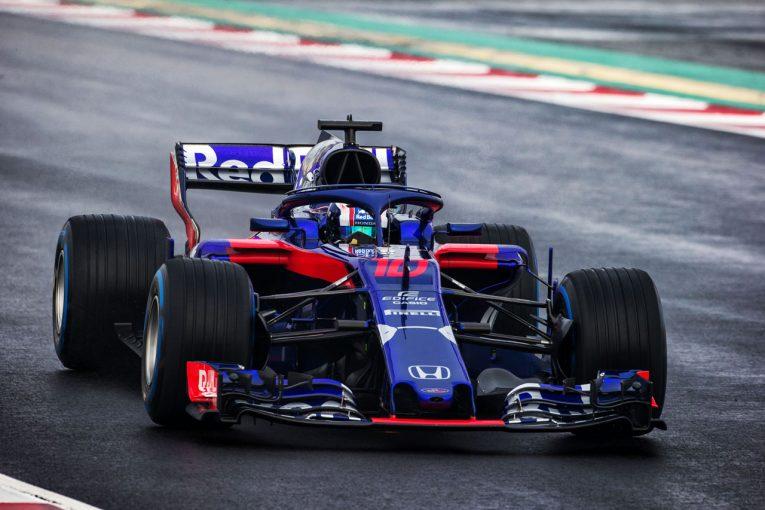 F1 | 【F1合同テスト1回目デイ4午前・タイム結果】ウエット路面でトロロッソ・ホンダが一時トップに