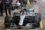 F1 | ハミルトンがミディアムで4日間総合のトップ。マクラーレン順調、レッドブルにトラブル/F1テスト デイ4