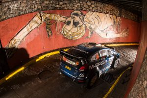 グアナファト市街地で行われるSS1は途中、地下トンネルを通過する名物ステージのひとつ