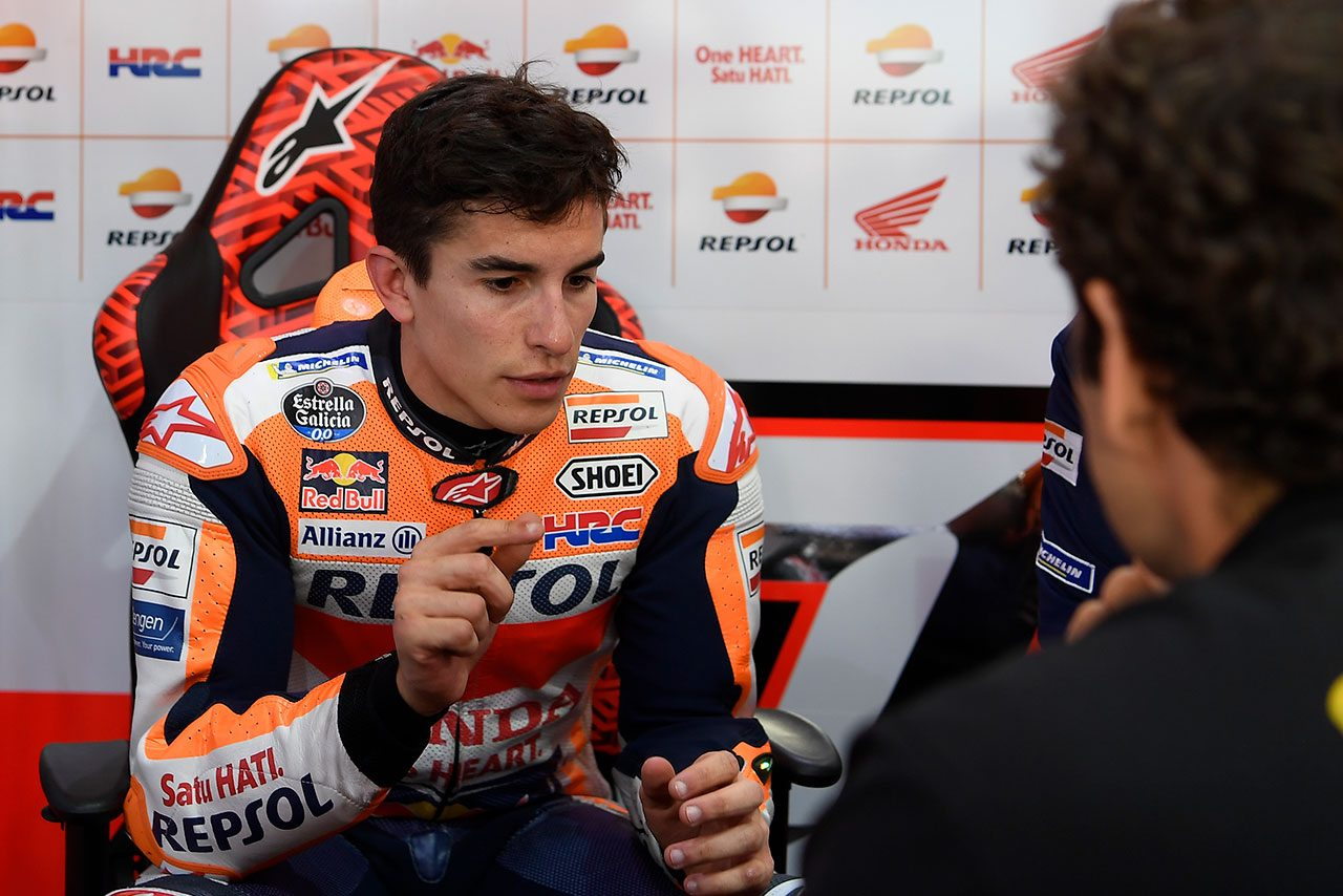MotoGP:マルケス、テスト2日目に手ごたえ。ペース改善へ向け「セットアップの仕事を継続」