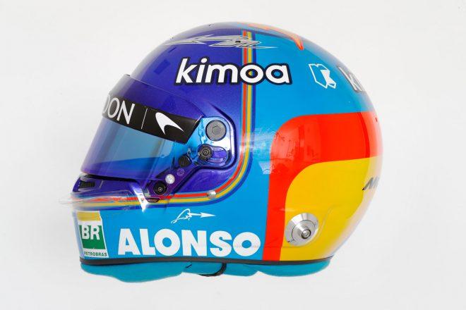 F1   フェルナンド・アロンソ(Fernando Alonso) 2018年のヘルメット2