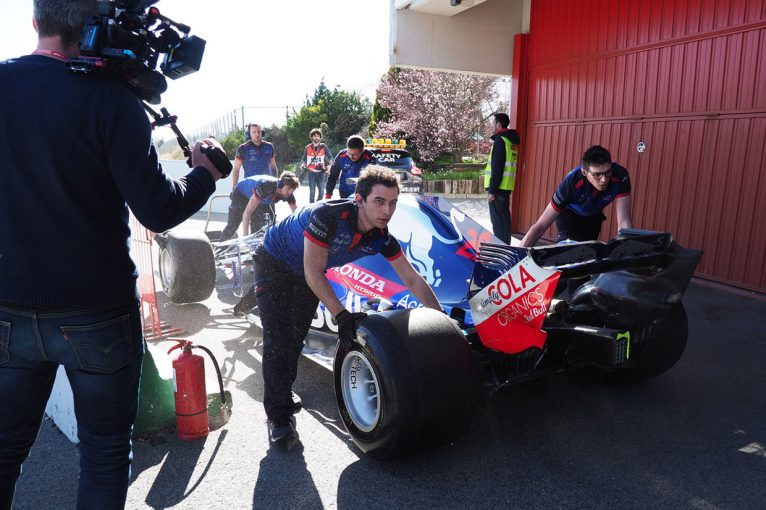 F1 | トロロッソ・ホンダ密着2日目:さらなるポテンシャルを感じる5番手タイム。中団グループで戦える手応え