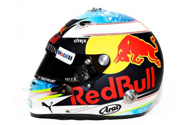 F1 | ダニエル・リカルド(Daniel Ricciardo) 2018年のヘルメット2