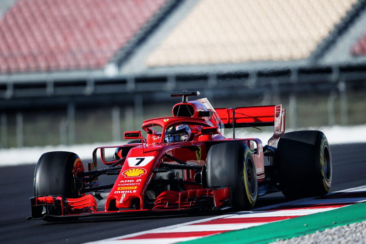 【F1合同テスト2回目デイ4午前・タイム結果】ライコネンがトップ。トロロッソは91周を走行し3番手