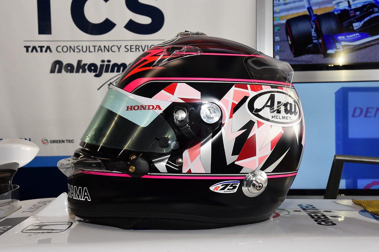 """スーパーフォーミュラ:今年の伊沢拓也のヘルメットは""""黒""""。サイドの模様に意味が……!?"""
