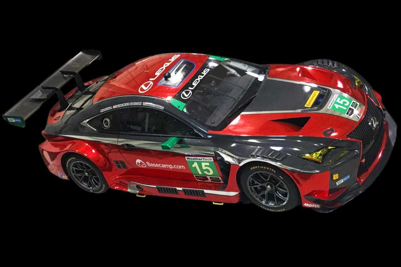 IMSA:3GTレーシング、レクサスRC Fのカラーを大胆変更。セブリングで新色デビュー