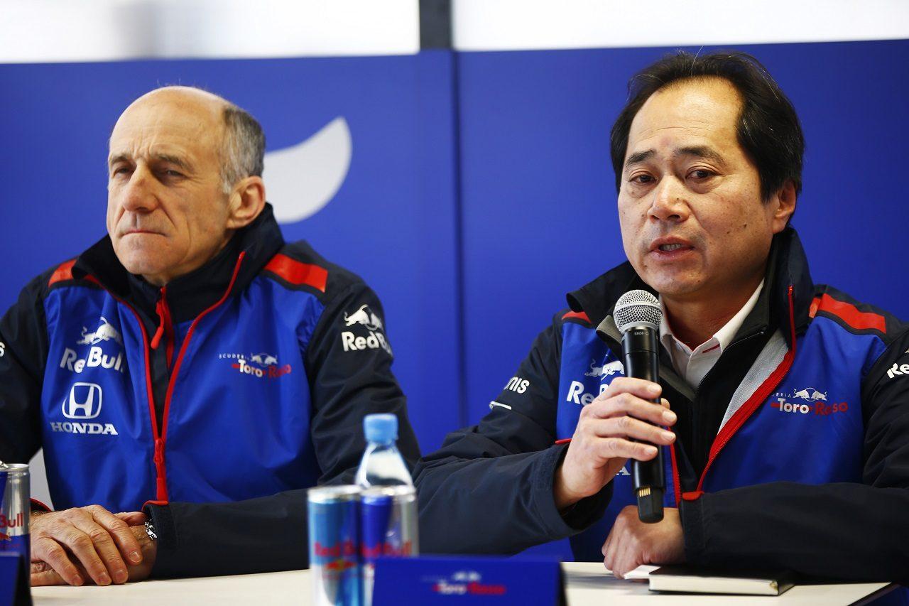 トロロッソチーム代表フランツ・トストとホンダF1テクニカルディレクター田辺豊治氏