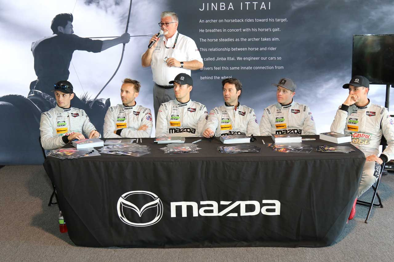 IMSA:マツダ、58周に渡って首位走行も表彰台目前でトラブル発生。「悔しいが収穫も多かった」