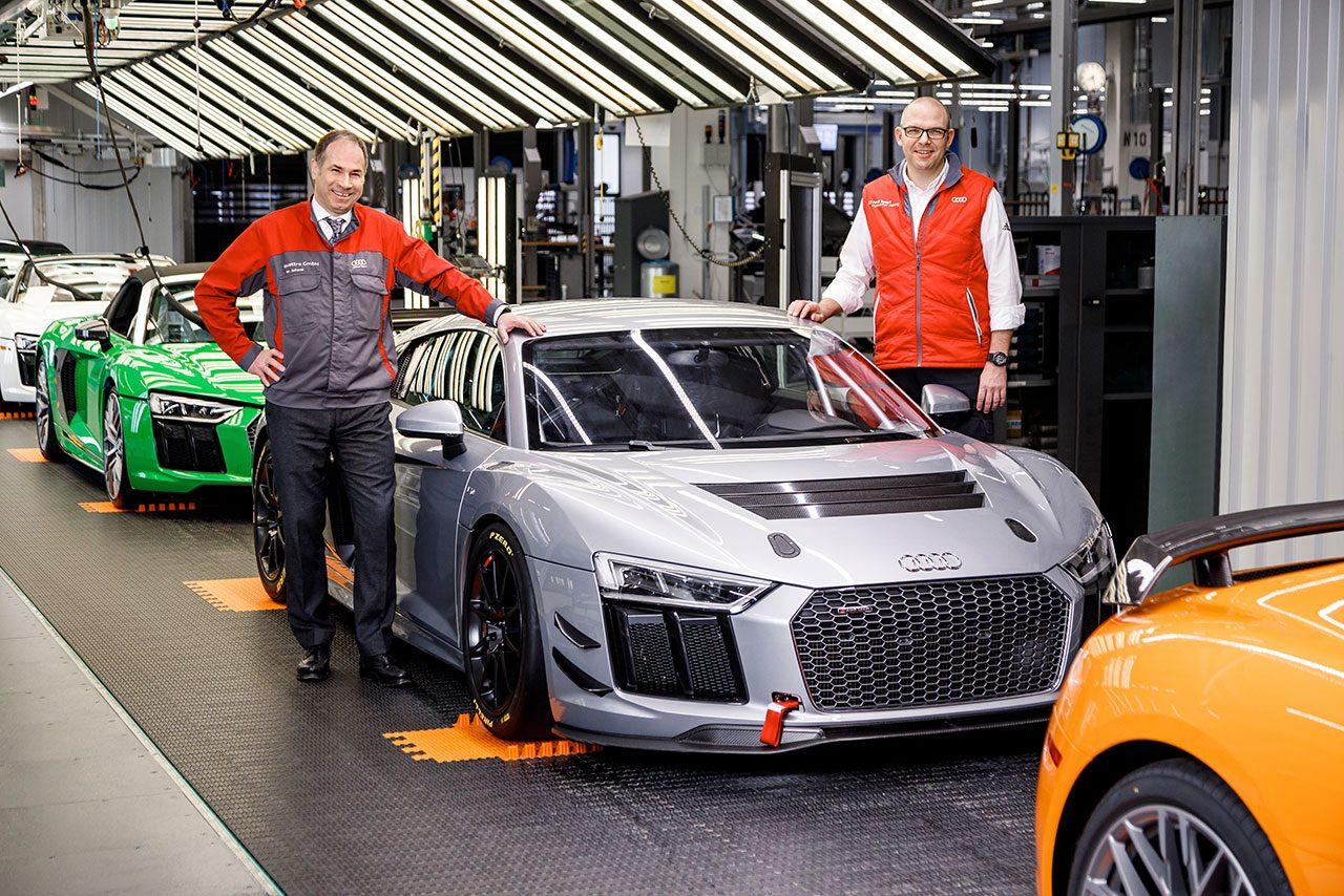 アウディ、50台目のR8 GT4製造。市販モデルと製造工程共有で「安価で高い品質の車両を提供」