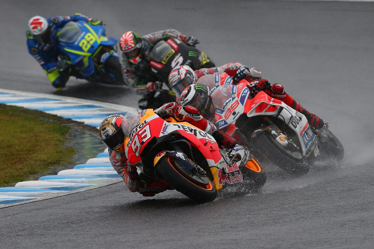 2017MotoGP日本GPのレースシーン