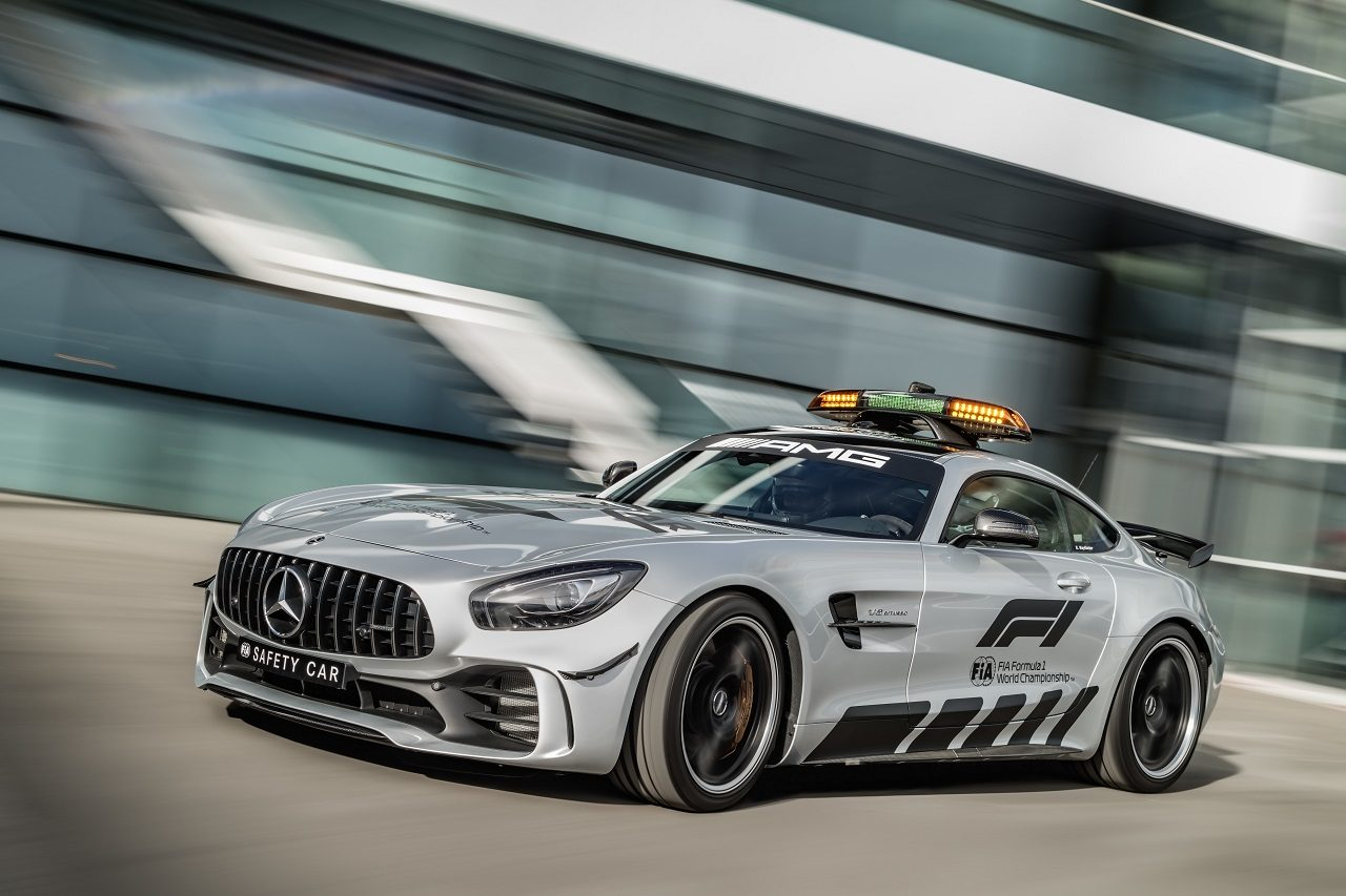 2018年F1セーフティカーとなるメルセデスAMG GT R