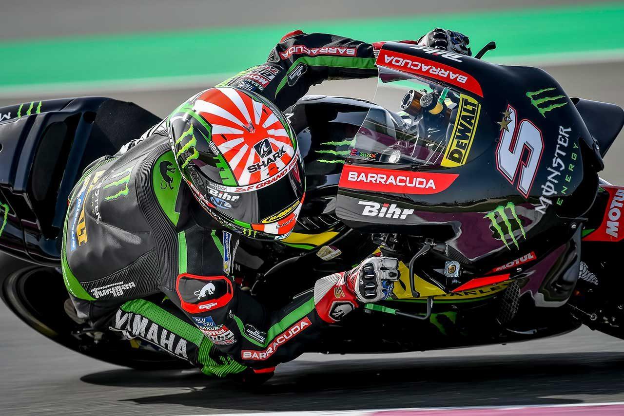 ヤマハのザルコ、MotoGP開幕戦でトップ走行もタイヤ消耗により後退。「何度も転倒しかかった」
