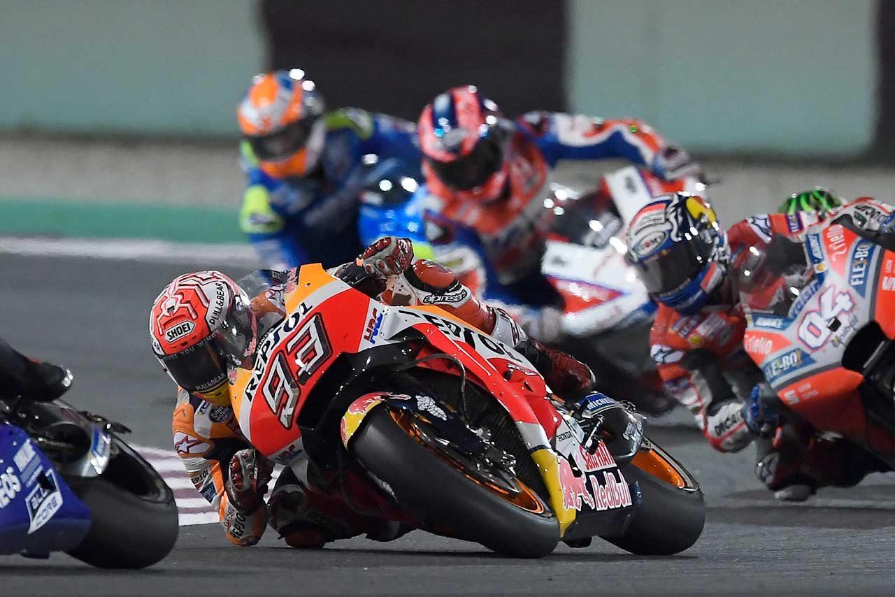 ホンダのマルケス、MotoGP開幕戦2位も満足。ドゥカティのストレートスピードに「ついていけた」