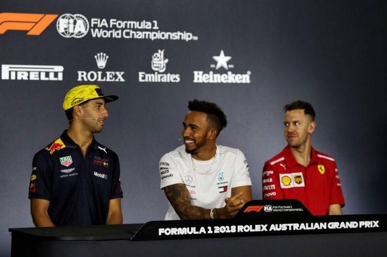 F1 | F1オーストラリアGP 木曜会見:リカルドへの挑発的な質問に同席したチャンピオンふたりが困惑