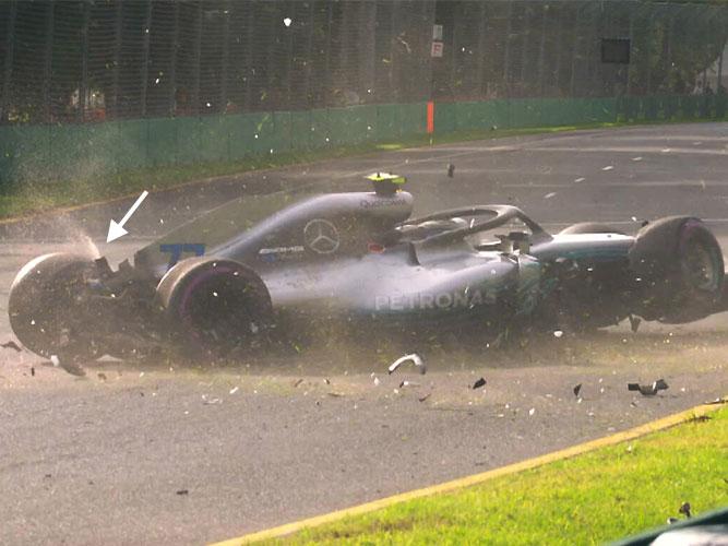 F1 | クラッシュ時にボッタス車が噴き上げた謎の液体の正体は?/F1オーストラリアGP予選