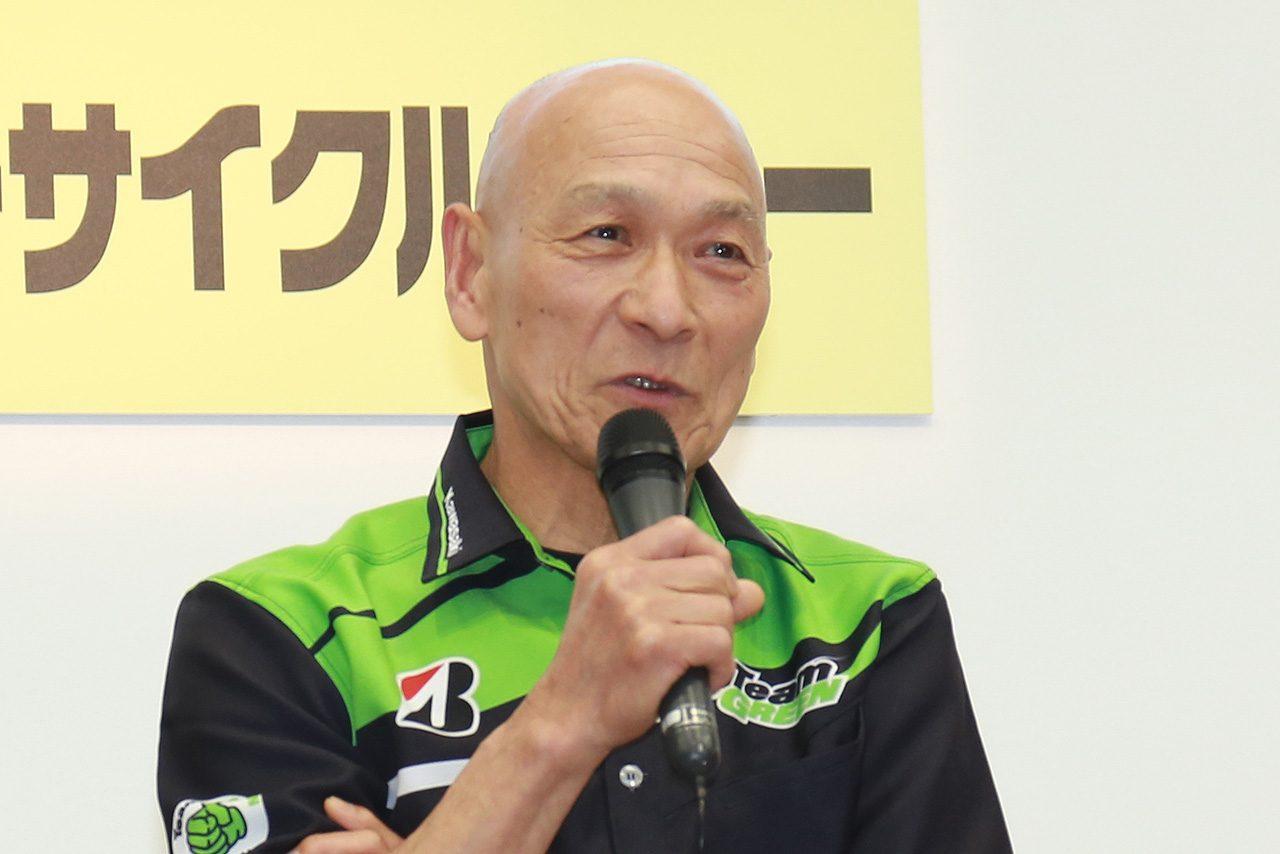 トークショーの場で2018年の鈴鹿8耐ライダーランアップを公表する釈迦堂利郎監督