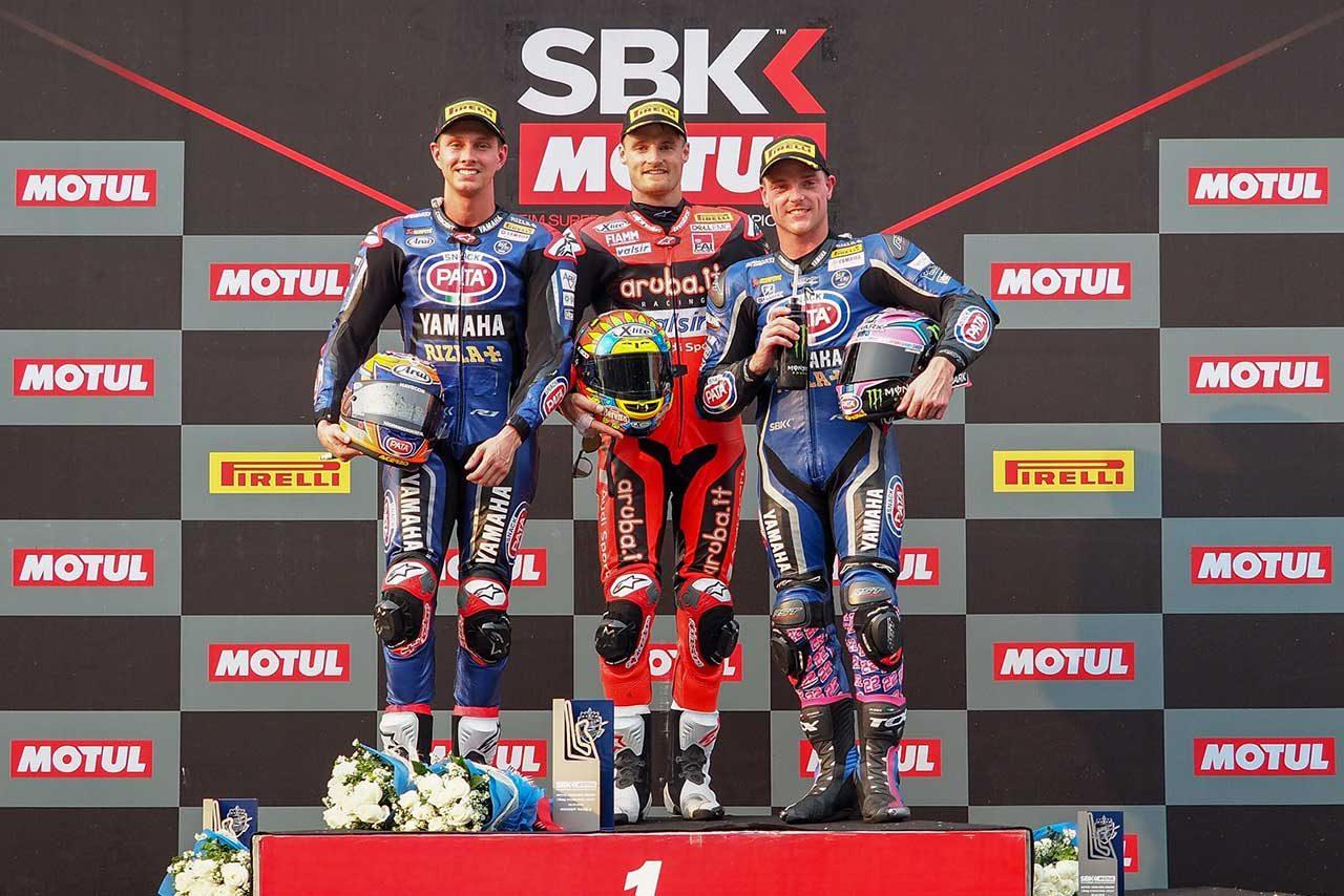 SBK第2戦レース2:ヤマハの両雄が表彰台獲得。優勝はドゥカティのデイビスが飾る