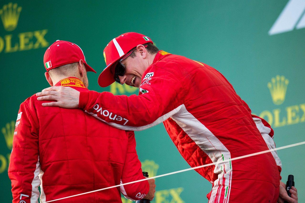 2018年F1第1戦オーストラリアGP キミ・ライコネンとセバスチャン・ベッテル(フェラーリ)