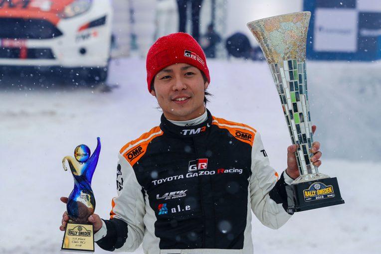 2018年2月のラリー・スウェーデンでWRC2クラスを制した勝田貴元