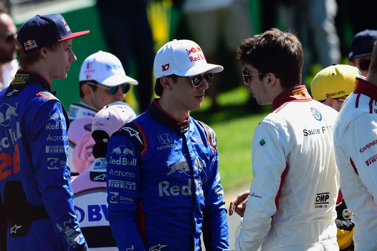 2018年F1オーストラリアGP ピエール・ガスリーとシャルル・ルクレール