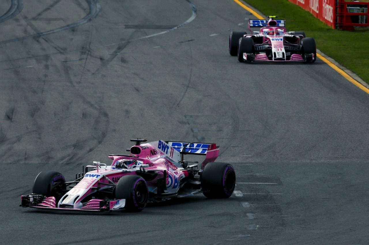 2018年F1オーストラリアGPでのフォース・インディア