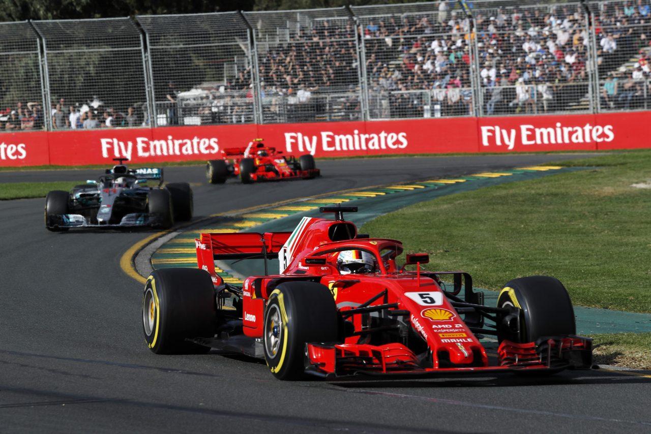 2018年F1オーストラリアGPでのベッテル