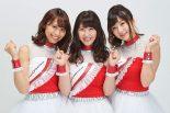 2018年のクレインズを務めるメンバー。左から茜音里奈さん、村井瑞稀さん、藤間すずさん