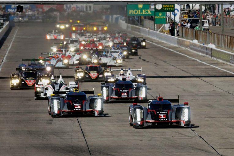 アメリカン・ル・マン・シリーズ開幕戦として行われた2012セブリング12時間レースのスタートシーン