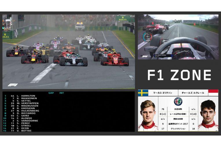 F1 | DAZNにレースをマルチ画面で楽しむ『F1 ZONE』登場。次回配信は第2戦バーレーンGP決勝