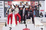 2018WRC第4戦ツール・ド・コルス表彰台