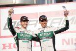 スーパーGT第1戦岡山でGT300クラス2位を獲得したD'station Porscheのスベン・ミューラーと藤井誠暢