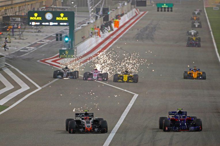 F1   マグヌッセン「トロロッソ・ホンダには届かなかったが、5位はうれしい結果」ハース F1バーレーンGP日曜