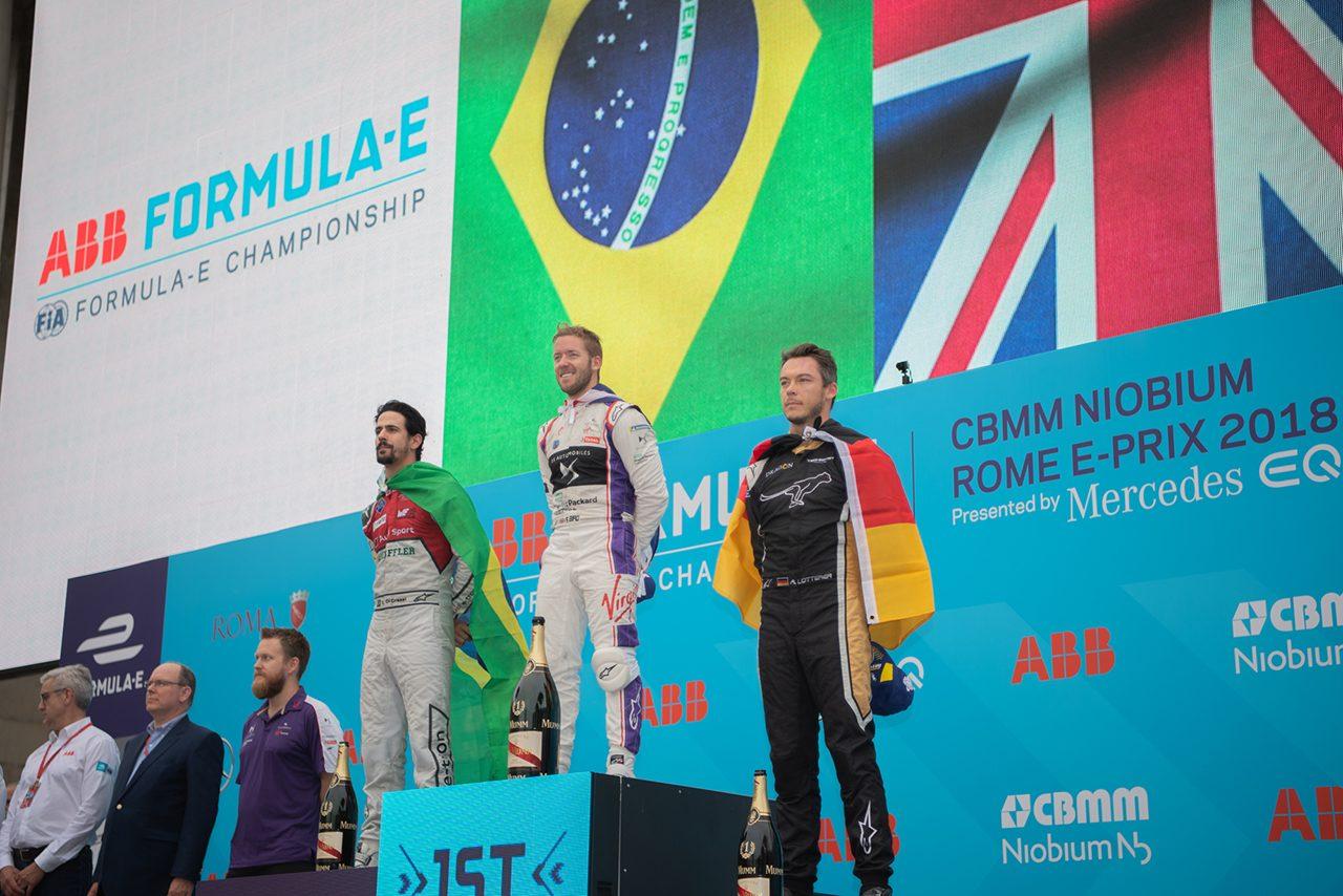 FE第7戦:終盤の混戦を制したバードが初のローマePrix勝者に。ロッテラーは2度目の表彰台