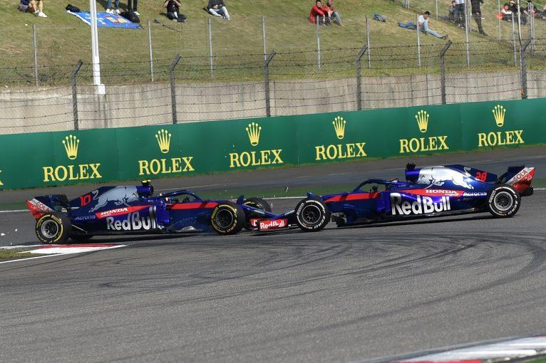 F1 | ガスリー18位「ハートレーに謝る。チームメイトと接触するなんて最悪」トロロッソ・ホンダ F1中国GP日曜