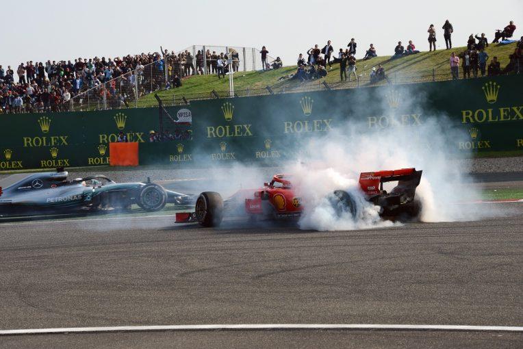 F1 | ベッテル「フェルスタッペンの接触は不必要な事故。リタイアせずに済んでラッキーだった」フェラーリ F1中国GP日曜