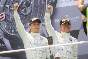 レース2のGT4クラスで2位表彰台を獲得した木下隆之/砂子塾長