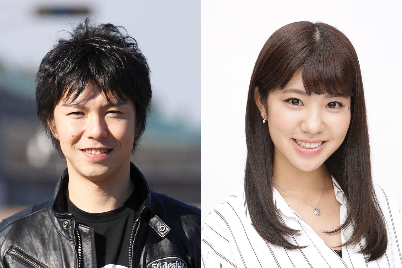 元MotoGPライダー中野真矢氏(左)と元SKE48でタレントの梅本まどかさん