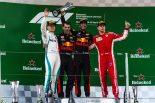 2018年F1第3戦中国GP表彰台